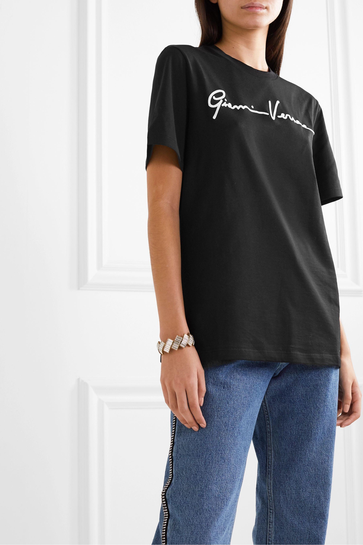 Versace Printed cotton-jersey T-shirt