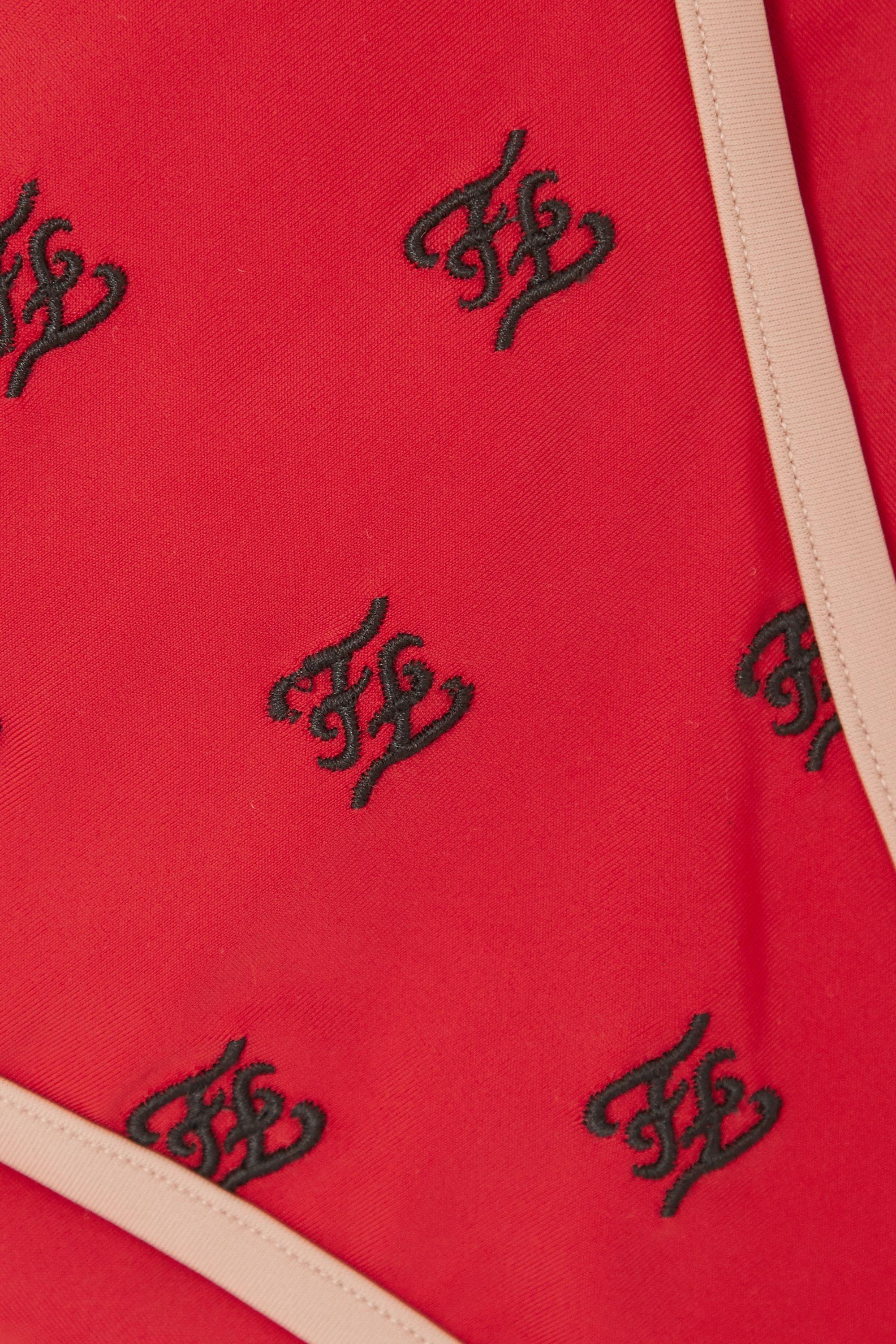 Fendi Embroidered triangle bikini