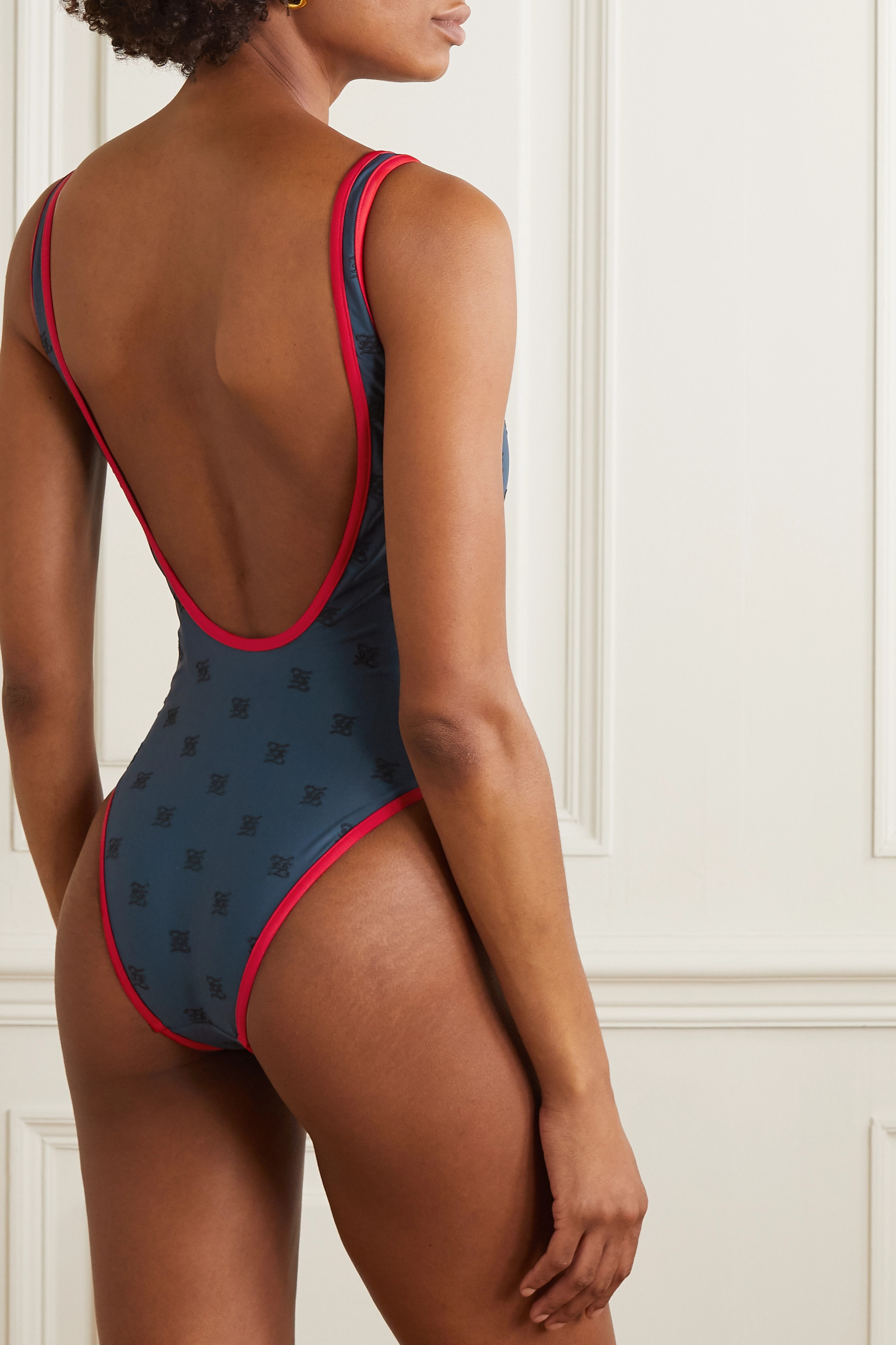 Fendi Karligraphy embroidered swimsuit