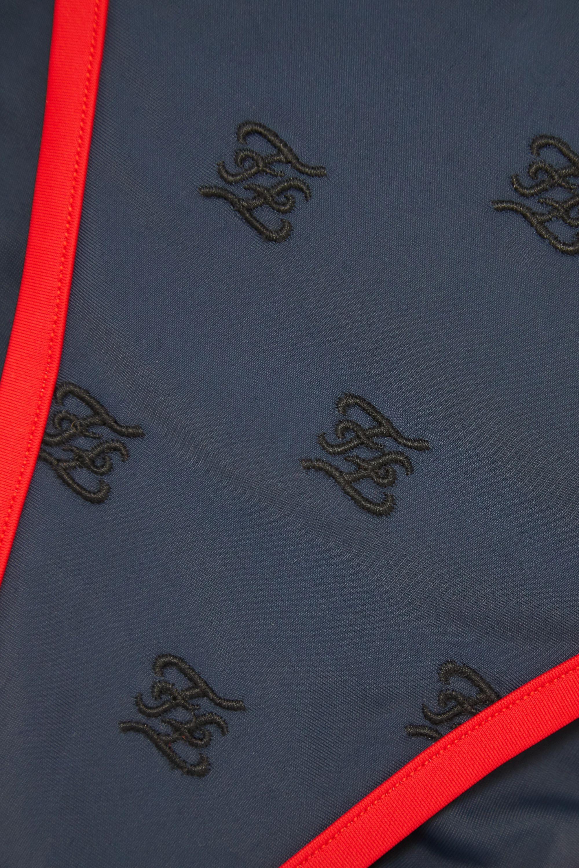 Fendi Karligraphy embroidered triangle bikini