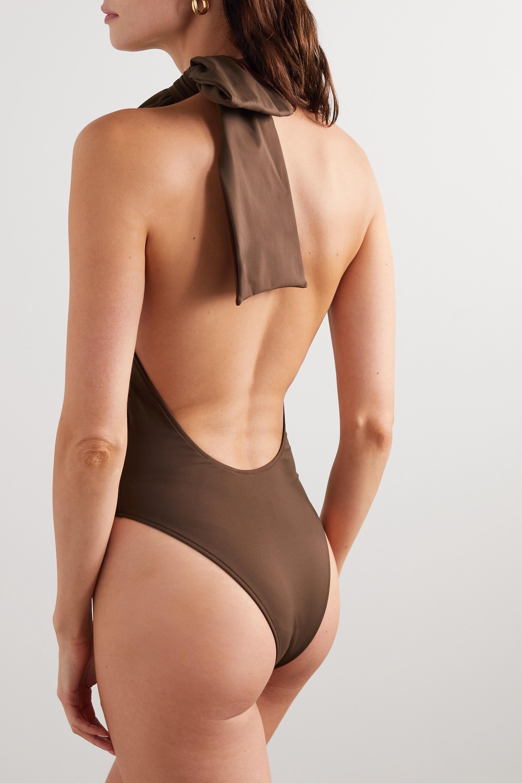 Fendi Neckholder-Badeanzug mit Schleife