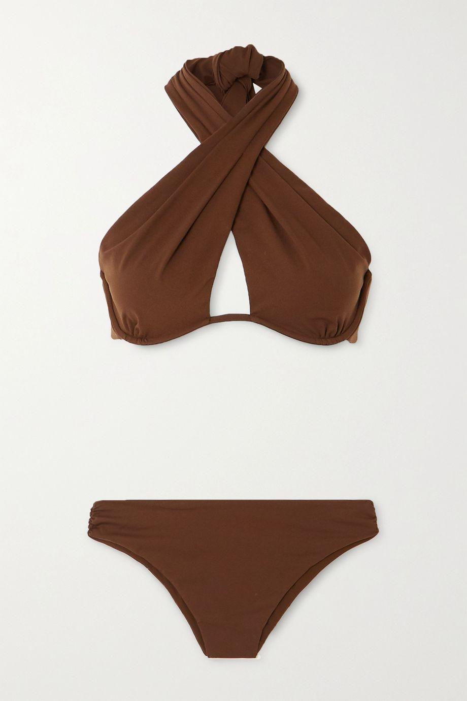 Fendi Neckholder-Bikini mit Bügeln und Cut-out
