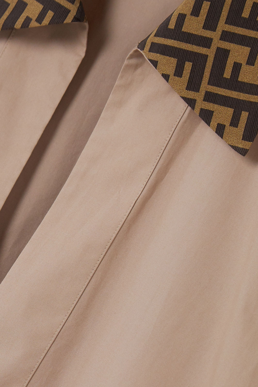 Fendi Printed cotton-poplin kaftan