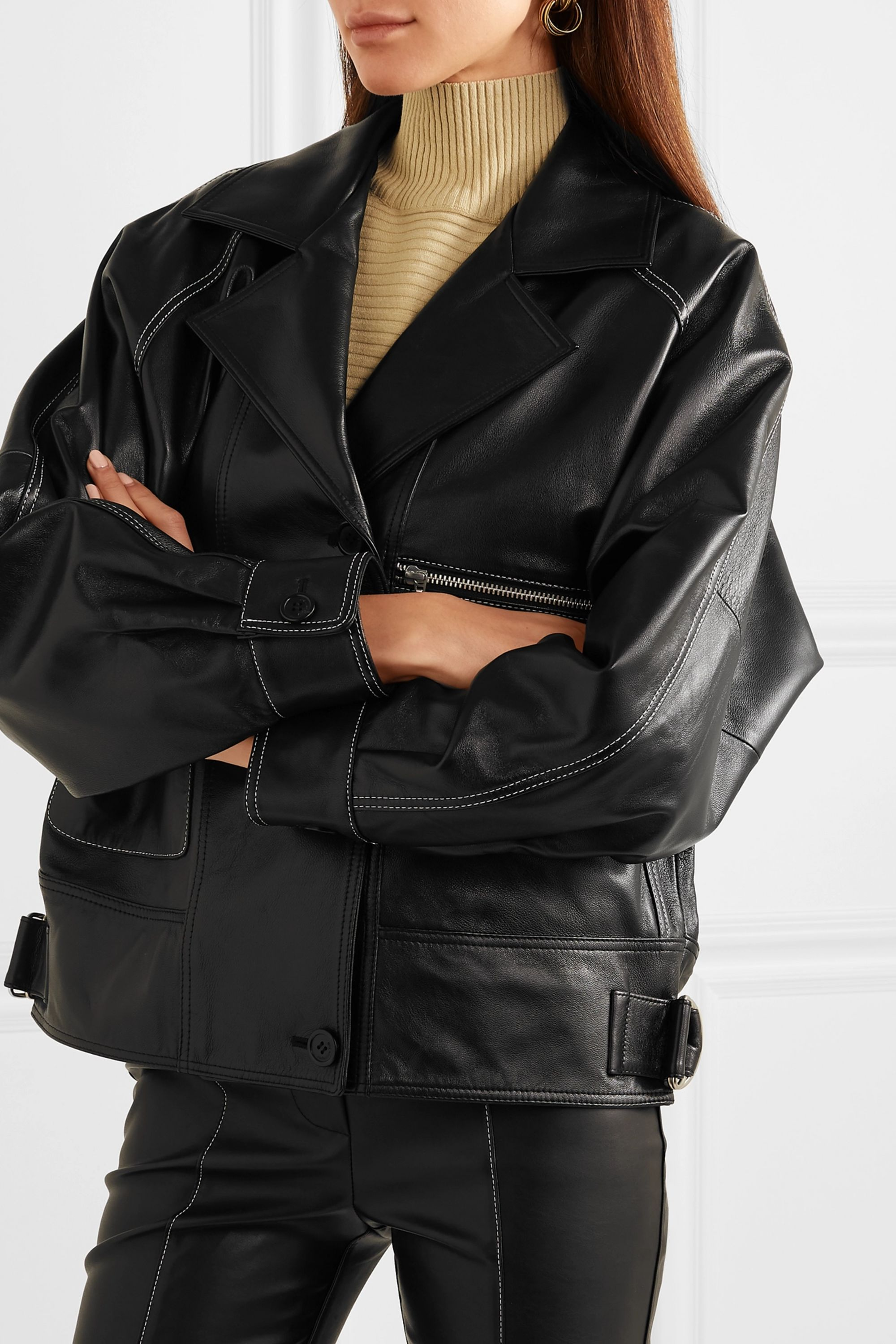 Andersson Bell Oversized leather jacket