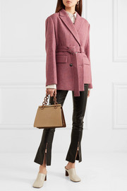 Andersson Bell Oversized asymmetric belted wool-tweed blazer