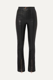 Andersson Bell Faux leather flared pants