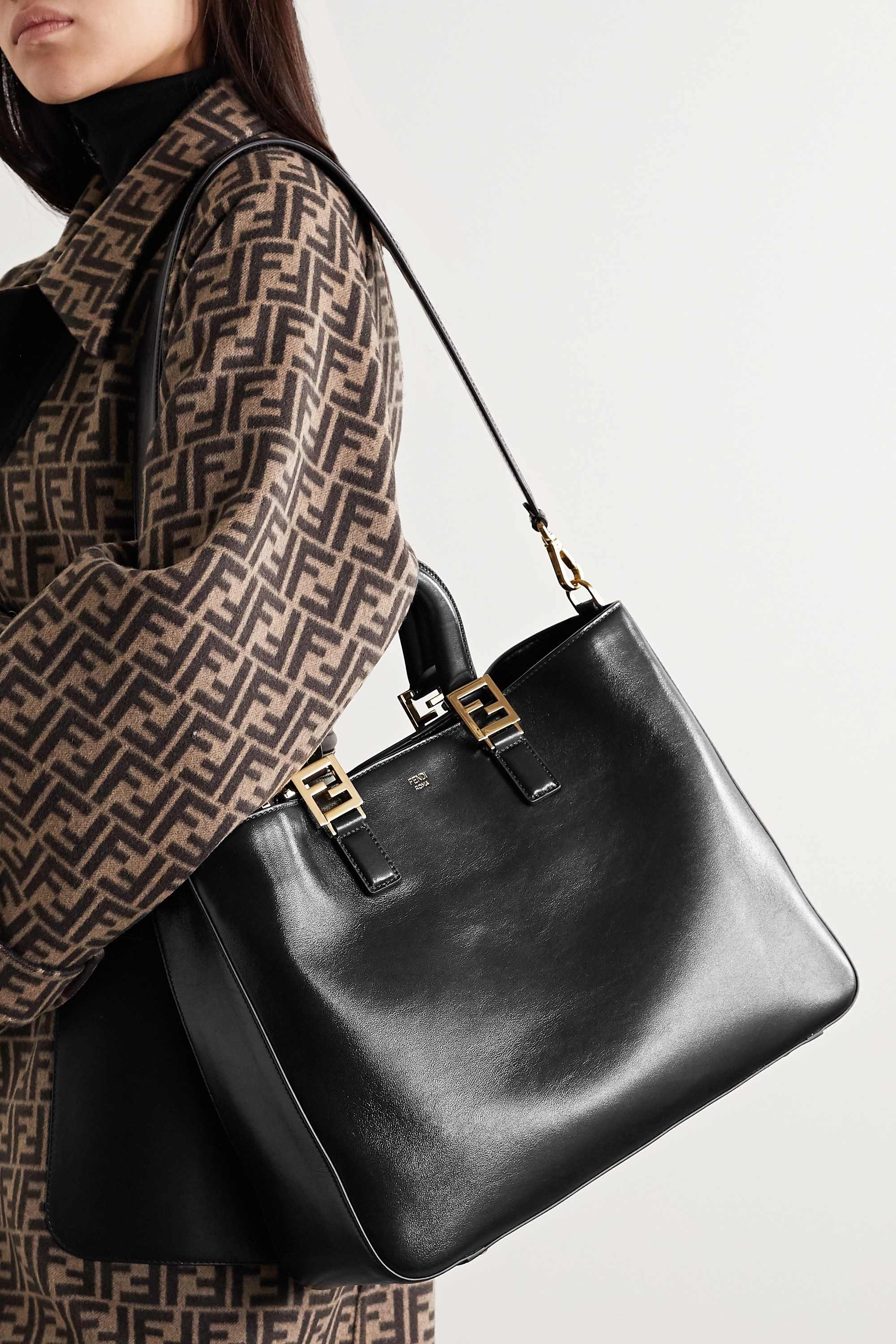 Black Leather Tote | Fendi