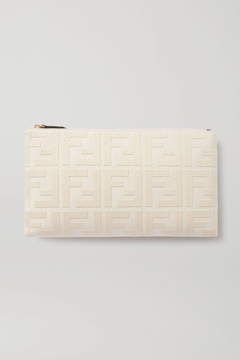 Fendi Canvas-jacquard pouch