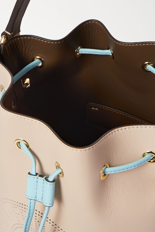 Fendi Mon Trésor small perforated leather bucket bag