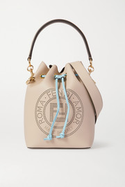 Fendi Mon Trésor small perforated leather bucket bag