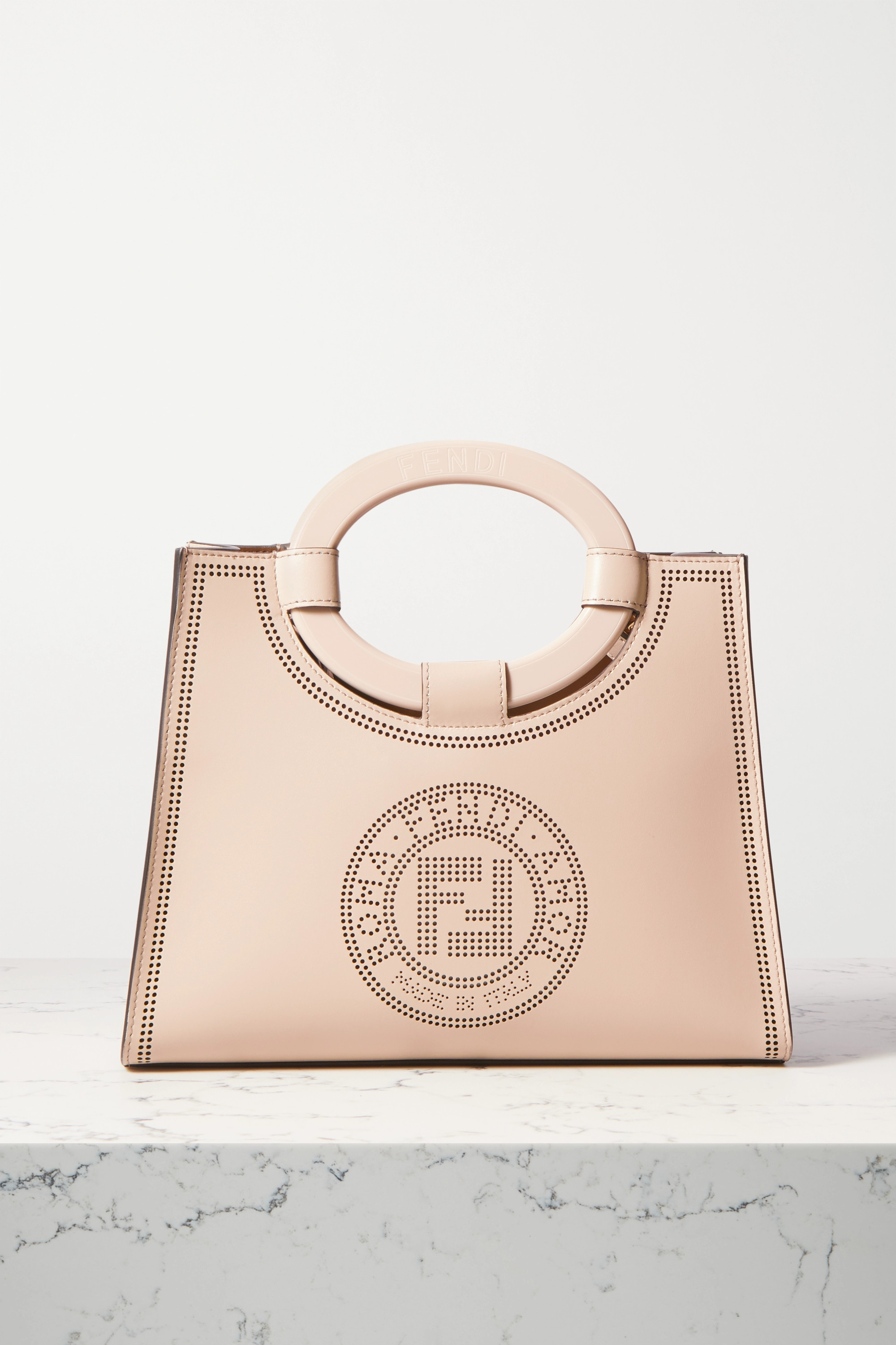 Fendi Runaway small perforated leather tote