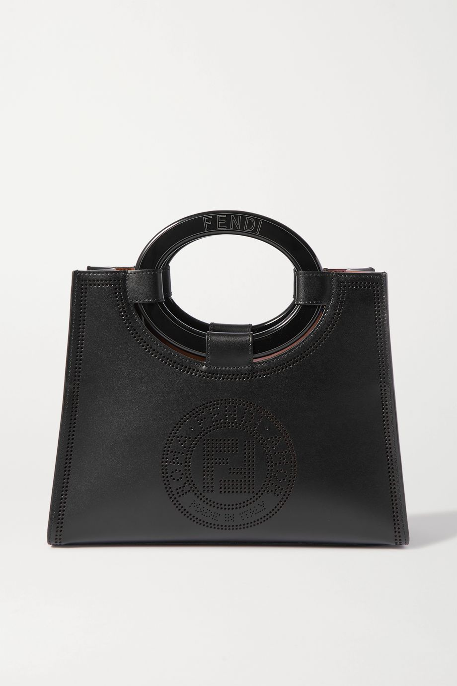 Fendi Small perforated leather tote