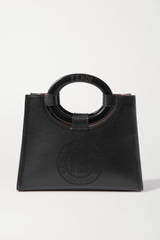 Small perforated leather tote