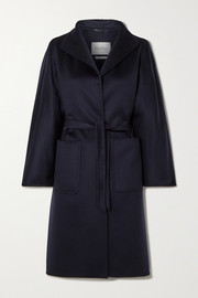 Lilia belted cashmere coat