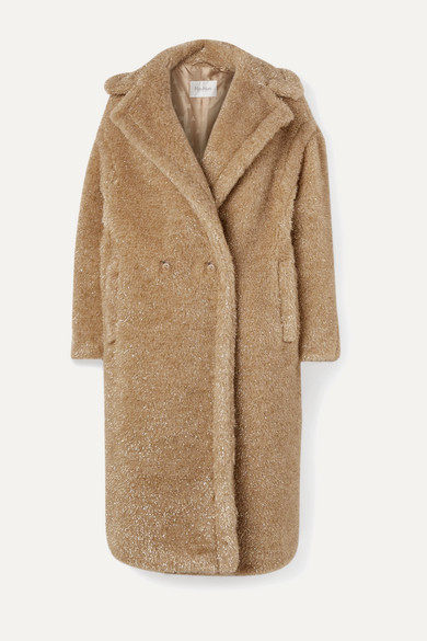 Teddy Icon Metallic Faux Fur Coat by Max Mara