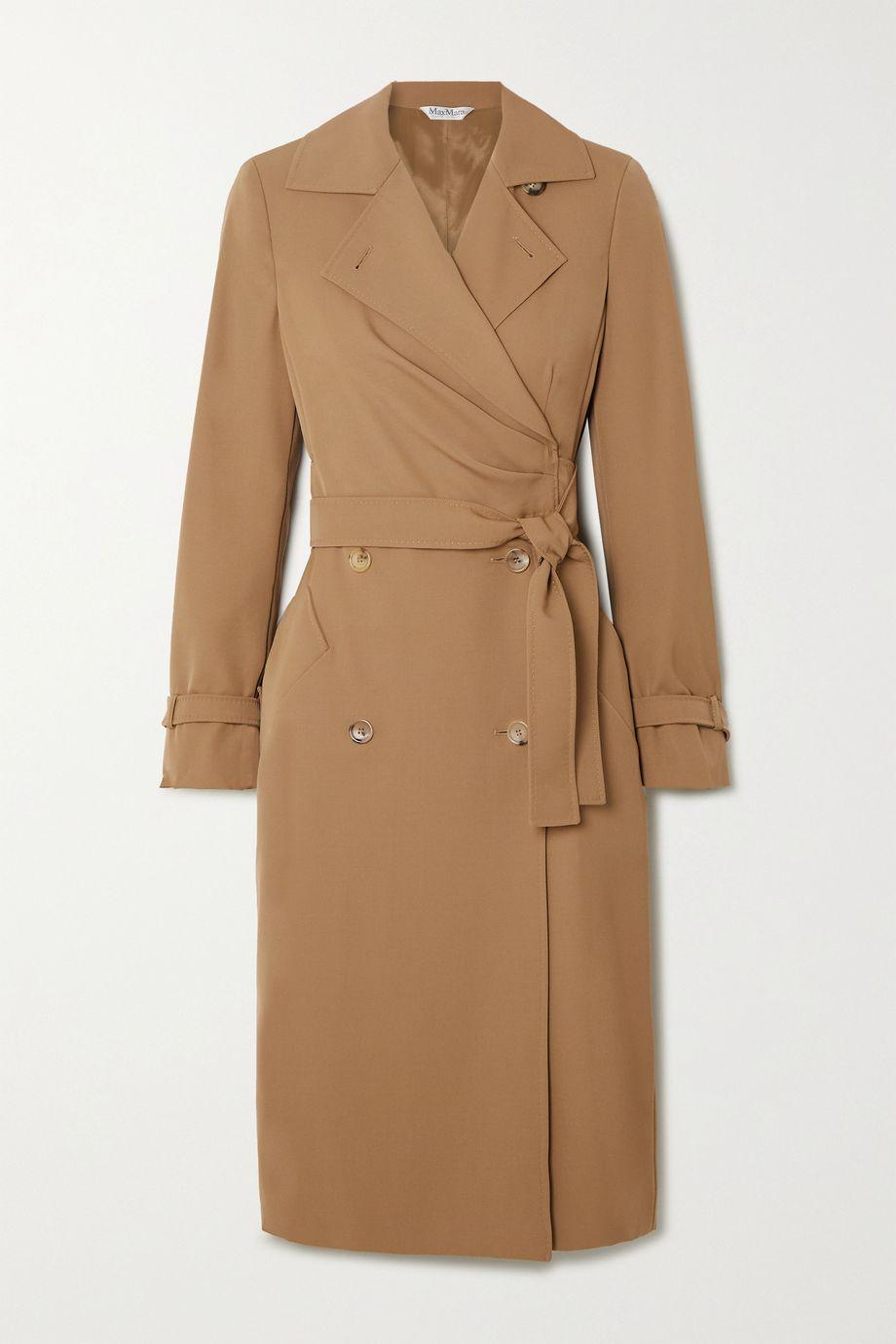 Max Mara Lucia wool wrap dress
