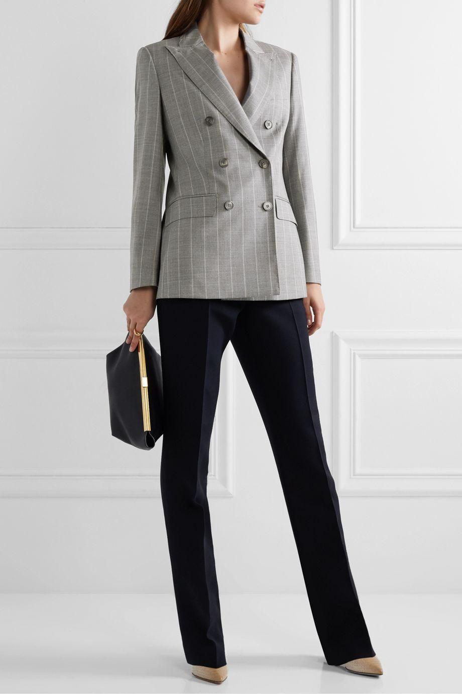 Max Mara Omero pinstriped wool-blend blazer