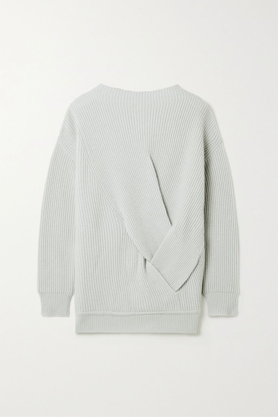 Max Mara Verace twisted ribbed wool and cashmere-blend sweater