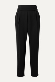 Anagni belted pleated crepe tapered pants