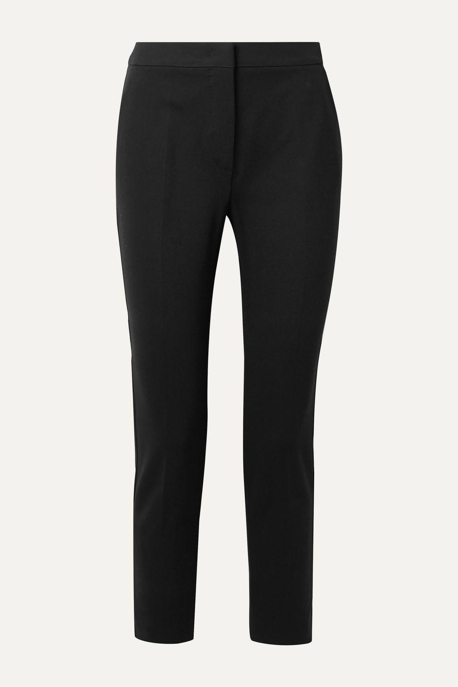Max Mara Pegno cropped stretch-cady slim-leg pants