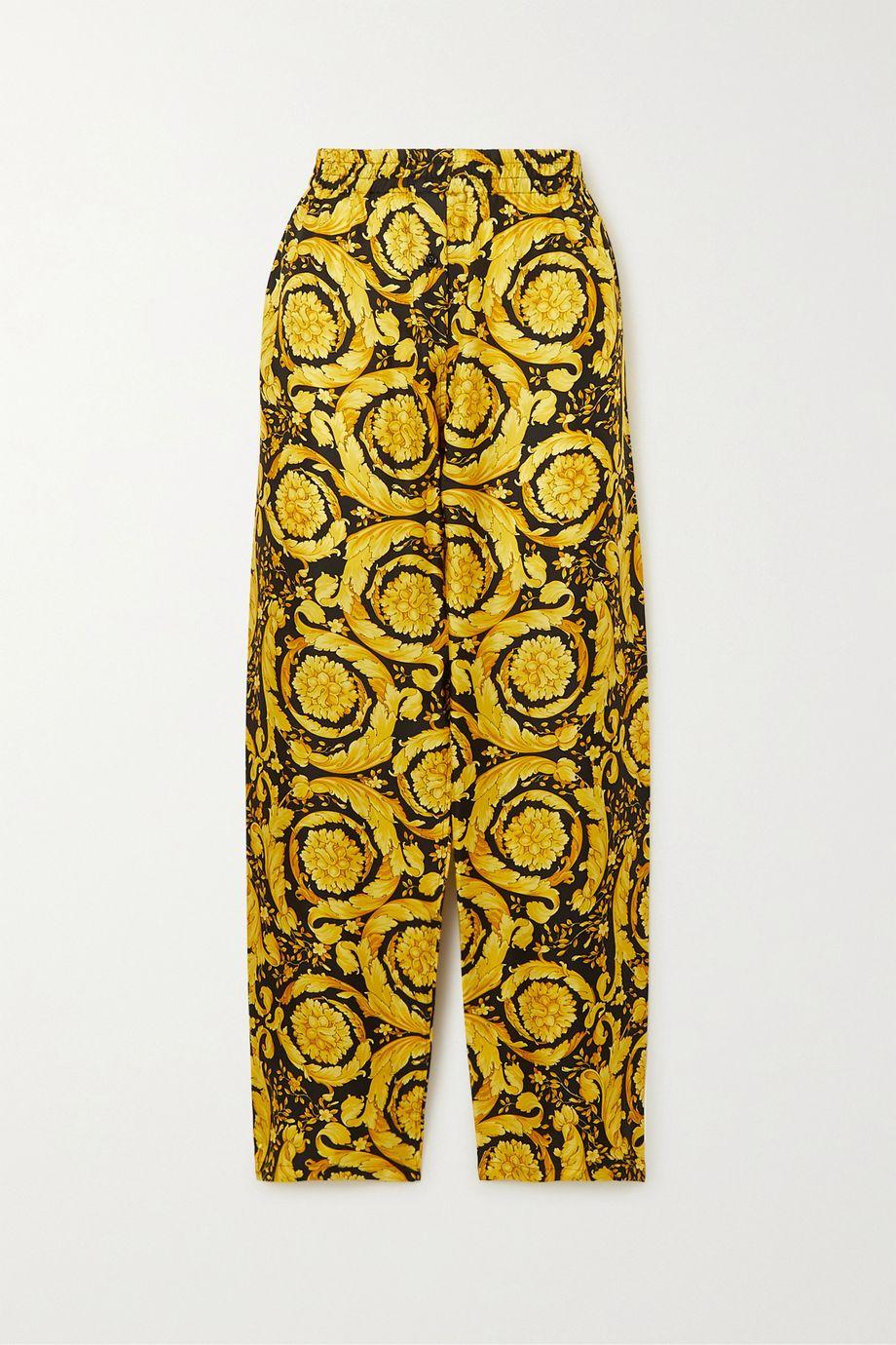 Versace Printed silk pajama pants