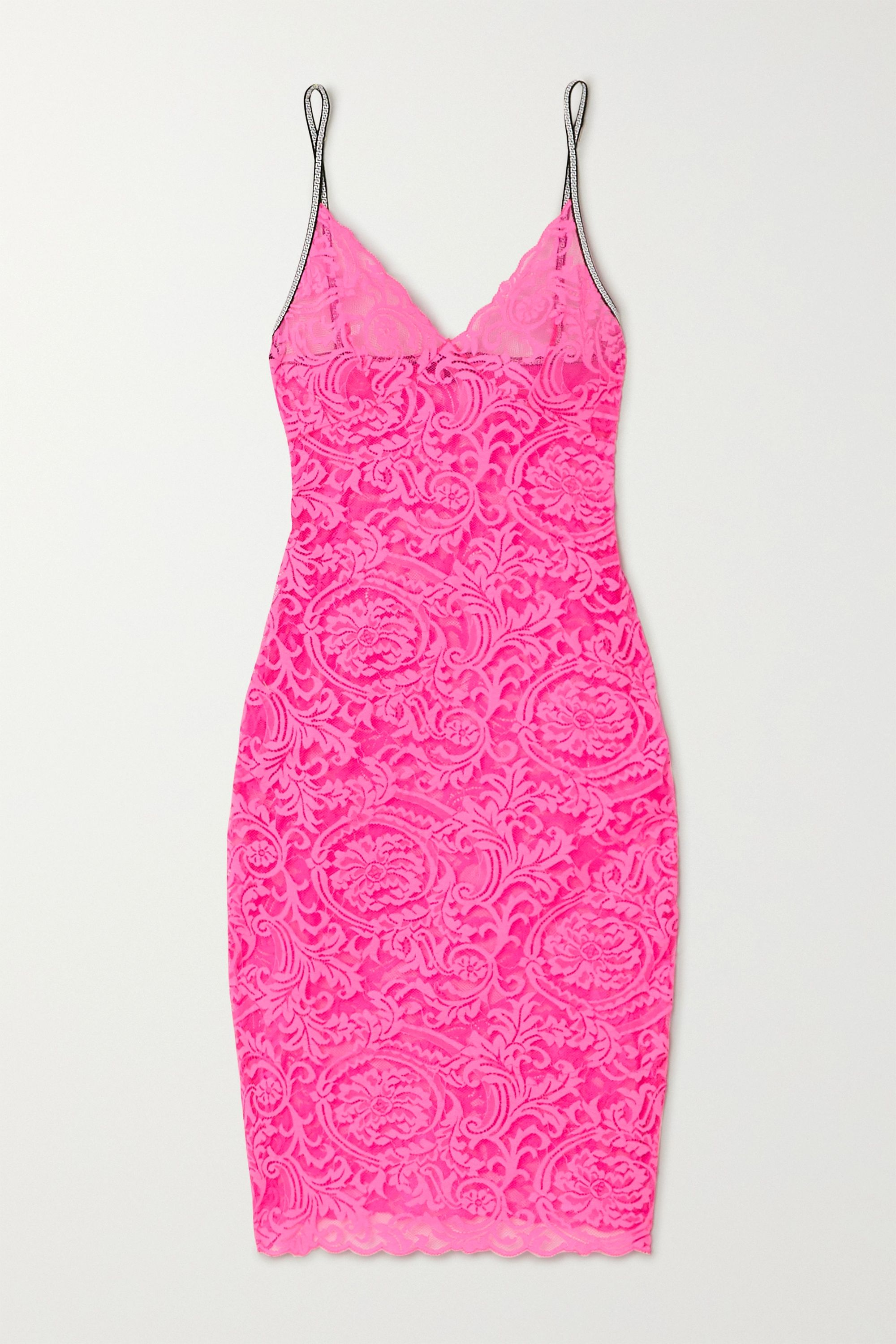 Versace Neon stretch-lace chemise