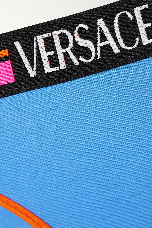 Versace Jacquard-trimmed stretch-cotton jersey briefs