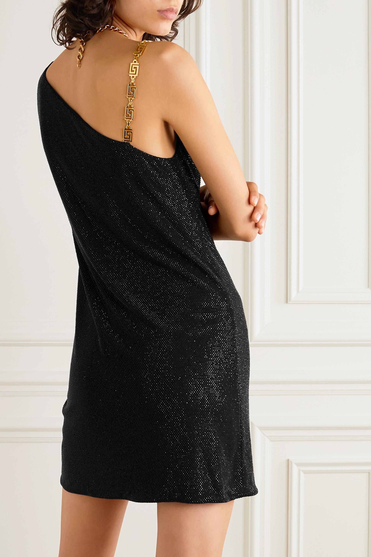 Versace Mini-robe asymétrique en jersey stretch à ornements