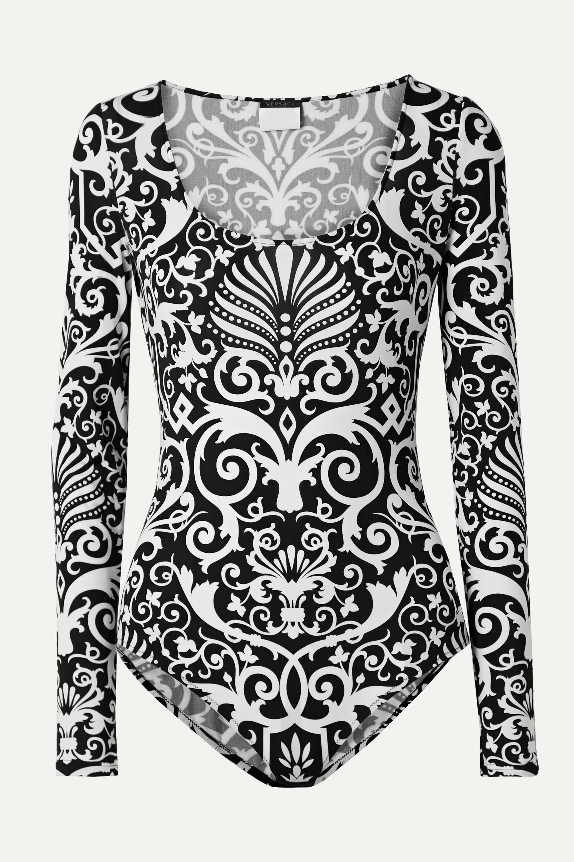 Versace Printed stretch-jersey bodysuit