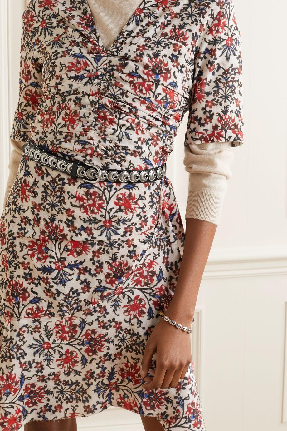 Isabel Marant Zappi embellished leather belt