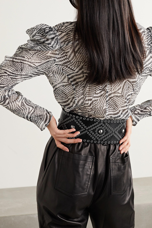 Isabel Marant Woma embellished leather waist belt