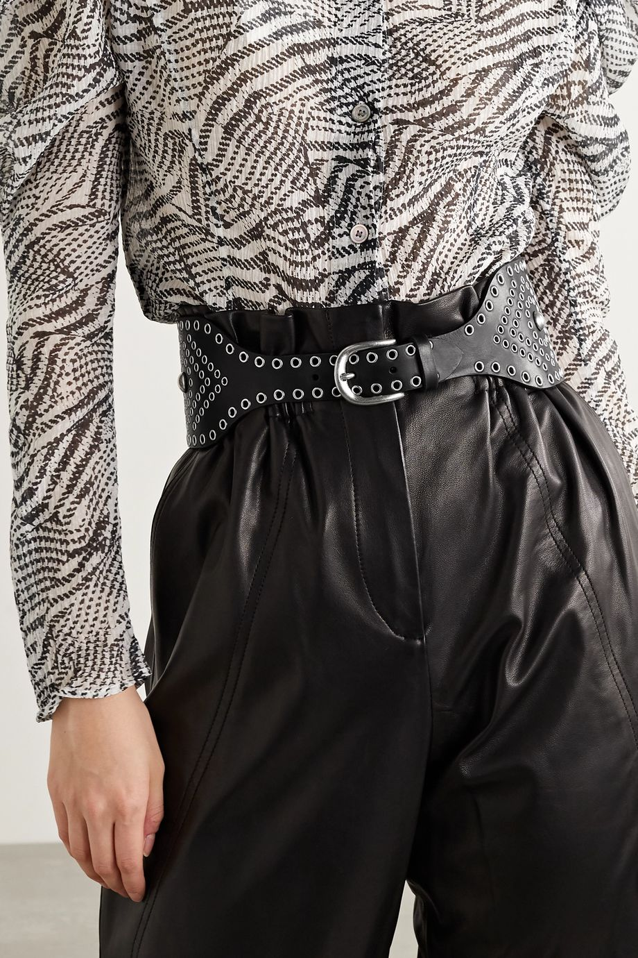 Isabel Marant Woma embellished leather waist belt