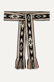 Etko fringed jacquard belt