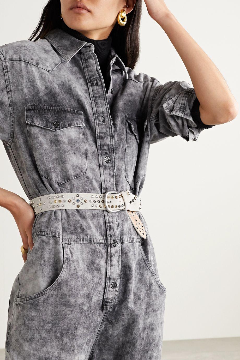 Isabel Marant Devis embellished suede belt