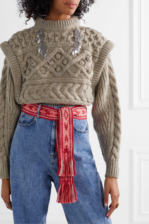 Isabel Marant Etko fringed jacquard belt