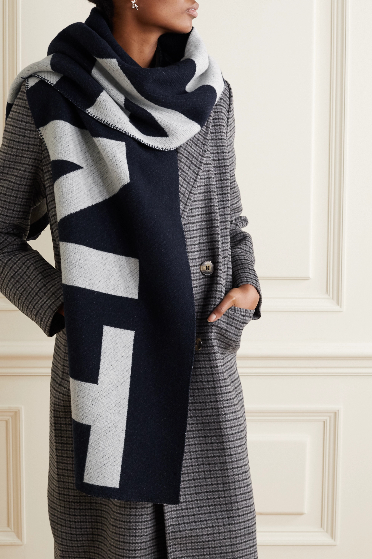 Isabel Marant Loli wool-blend jacquard scarf