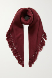Zila fringed cashmere and wool-blend scarf