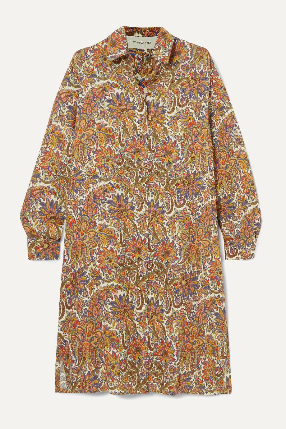 Etro Paisley-print wool and silk-blend dress