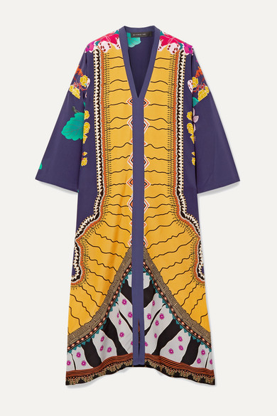 Etro Dress Oversized printed silk crepe de chine kaftan