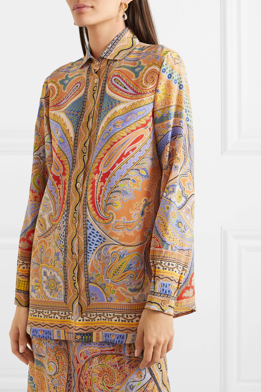 Etro Paisley-print silk crepe de chine blouse
