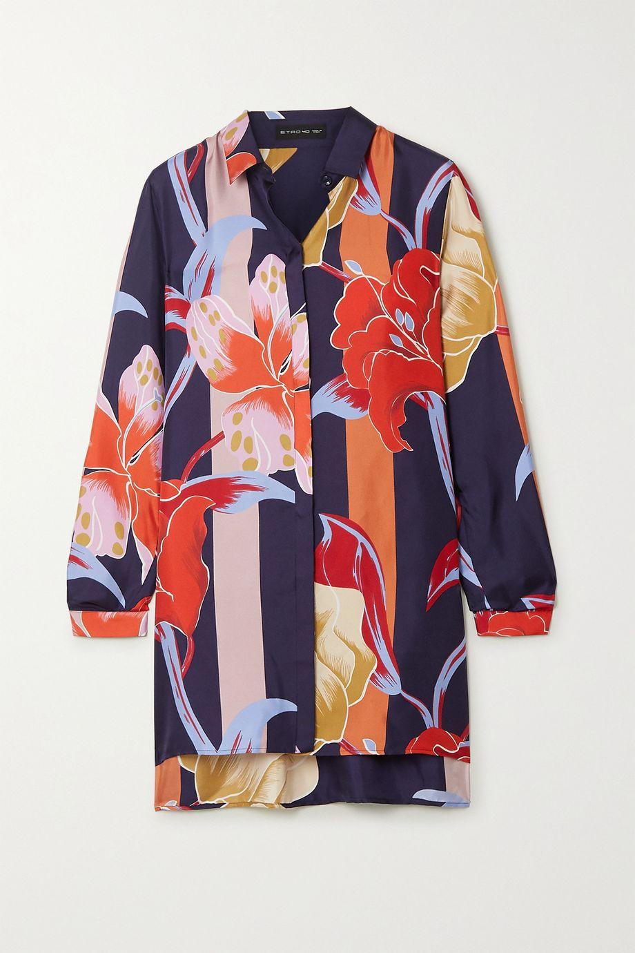 Etro Printed silk-twill blouse