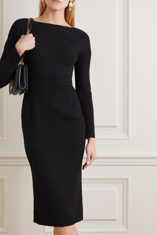 Dolce & Gabbana Bow-detailed wool-crepe dress