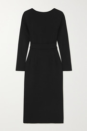 Dolce & Gabbana Bow-detailed wool-crepe dress