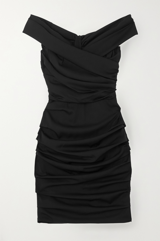 Dolce & Gabbana Gathered silk-blend dress