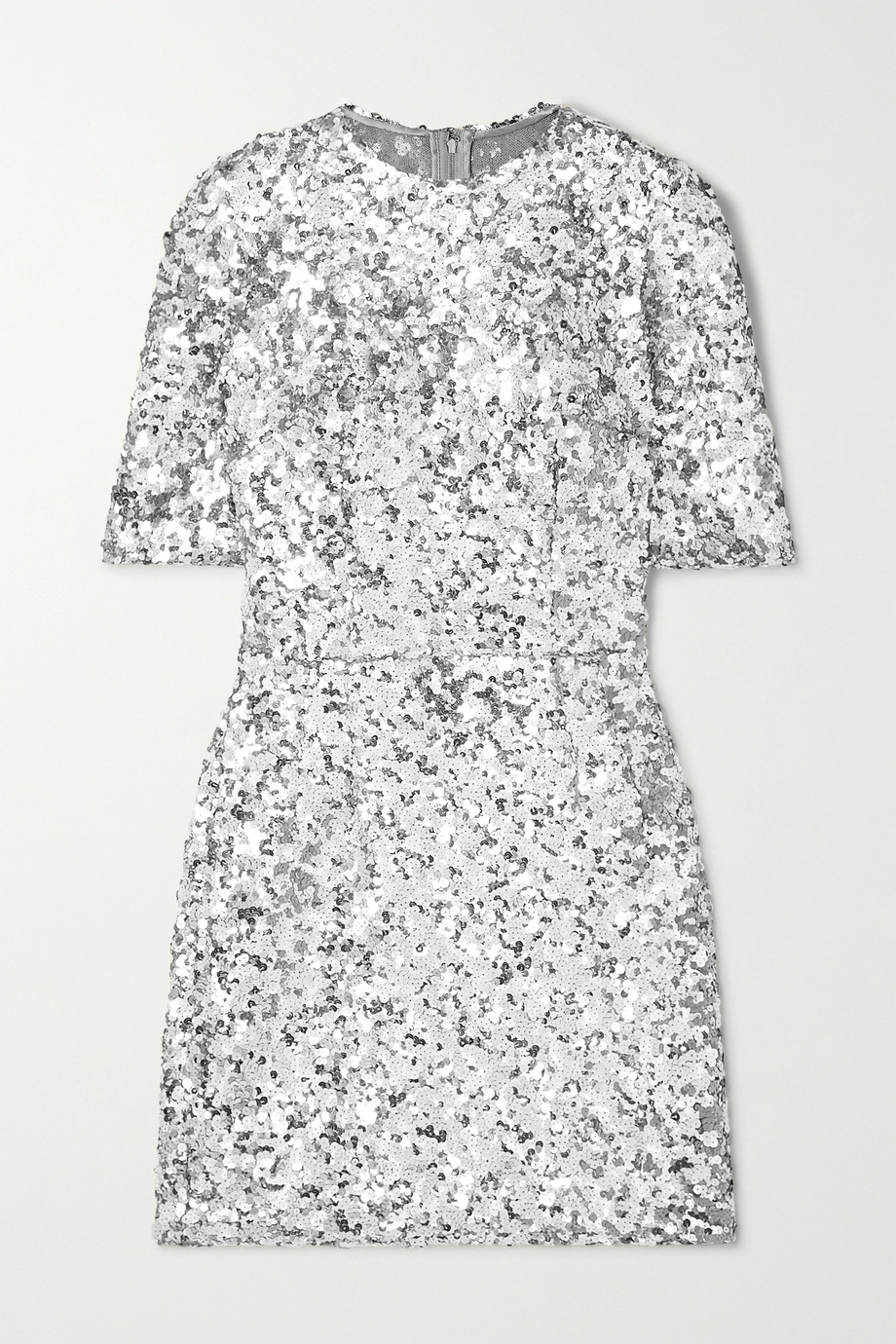Dolce & Gabbana Sequined stretch-tulle mini dress