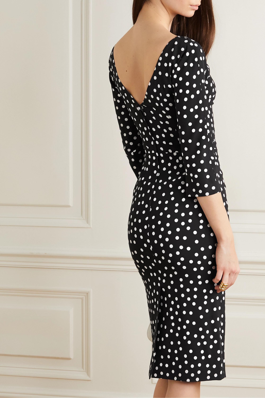 Dolce & Gabbana Polka-dot stretch-cady midi dress
