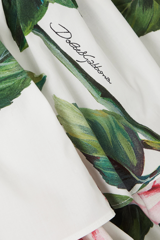 Dolce & Gabbana Tiered floral-print cotton-poplin dress