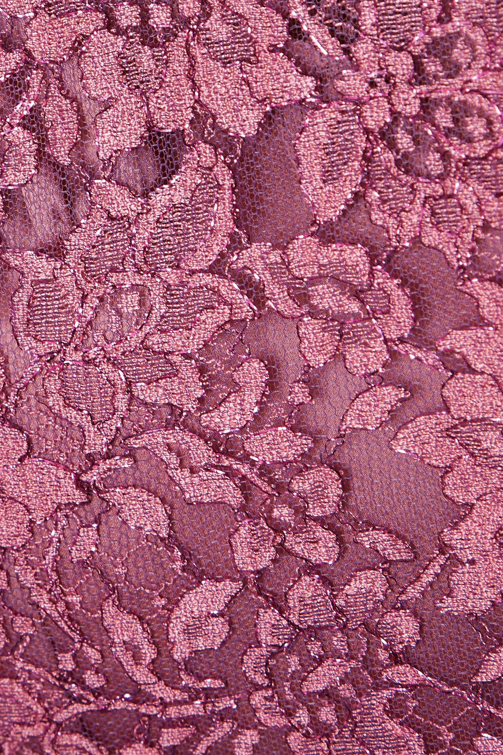Dolce & Gabbana Robe midi en dentelle de Chantilly à plis souples