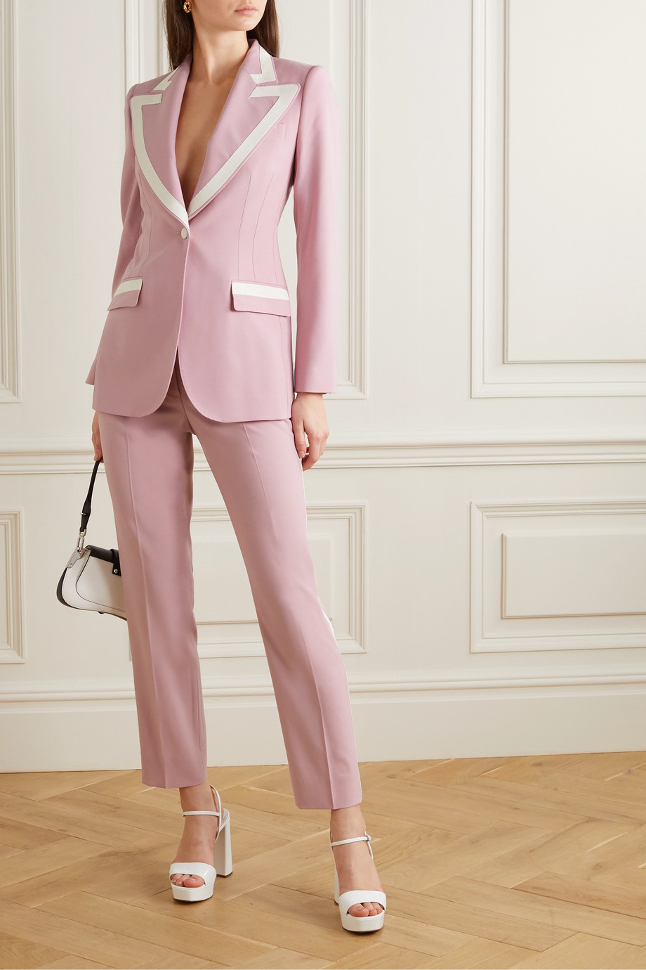Dolce & Gabbana Piped wool-blend blazer