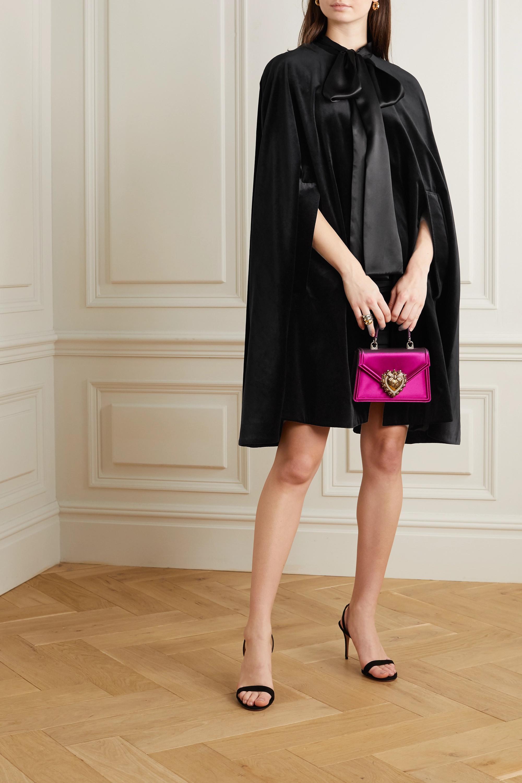 Dolce & Gabbana Cape en velours de coton et de soie mélangés et en satin à nœud lavallière